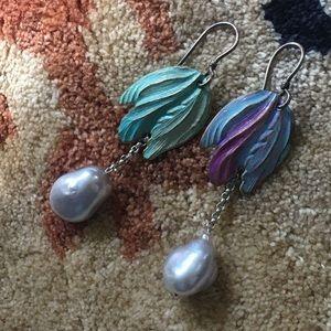 Kojima Freshwater pearl earrings sterling